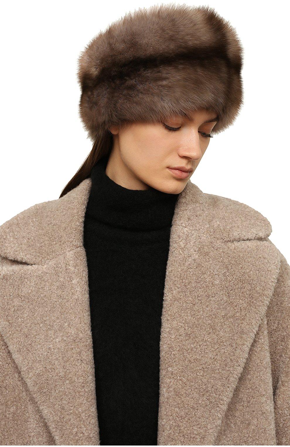 Женская шапка из меха соболя KUSSENKOVV бежевого цвета, арт. 062003436455 | Фото 2