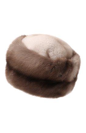 Женская шапка из меха соболя KUSSENKOVV бежевого цвета, арт. 062003436455 | Фото 3