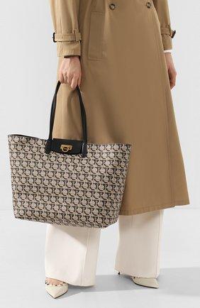 Женский сумка-тоут gancini SALVATORE FERRAGAMO коричневого цвета, арт. Z-0726583 | Фото 2