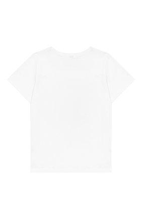 Детская хлопковая футболка MUMOFSIX белого цвета, арт. MOSFW19TS_01WH | Фото 2
