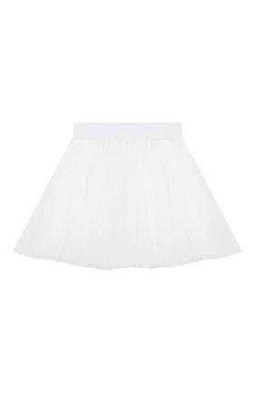Детская юбка MONNALISA белого цвета, арт. 175GON | Фото 1