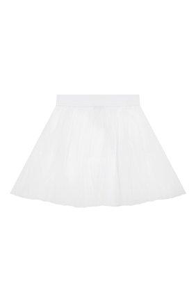 Детская юбка MONNALISA белого цвета, арт. 175GON | Фото 2