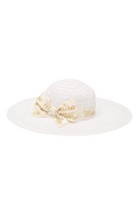 Детская шляпа MONNALISA бежевого цвета, арт. 175009 | Фото 1