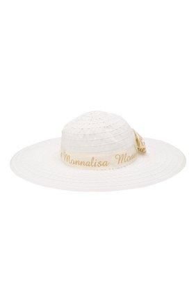 Детская шляпа MONNALISA бежевого цвета, арт. 175009 | Фото 2