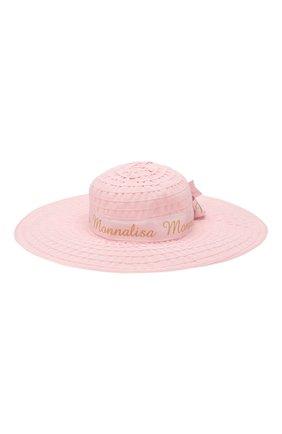 Детская шляпа MONNALISA розового цвета, арт. 175009 | Фото 2