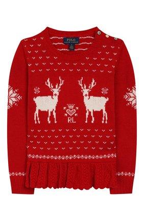 Детский пуловер POLO RALPH LAUREN красного цвета, арт. 312763068 | Фото 1