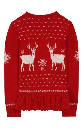 Детский пуловер POLO RALPH LAUREN красного цвета, арт. 312763068 | Фото 2