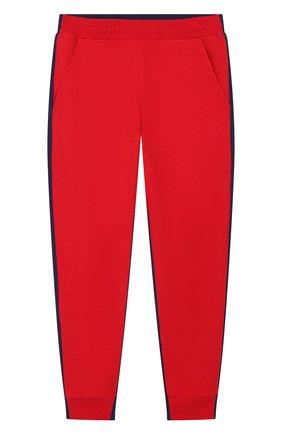 Детские хлопковые джоггеры MONCLER красного цвета, арт. F1-954-8H702-20-809AG/12-14A | Фото 1
