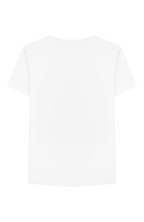 Детская хлопковая футболка MONCLER белого цвета, арт. F1-954-8C706-20-83907/8-10A | Фото 2