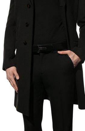 Мужской кожаный ремень TOM FORD черного цвета, арт. TB247P-LCL052 | Фото 2