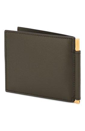 Мужской кожаный зажим для денег TOM FORD хаки цвета, арт. Y0231T-LCL053 | Фото 2