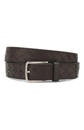 Мужской кожаный ремень BOTTEGA VENETA темно-коричневого цвета, арт. 609182/VCPQ3 | Фото 1