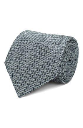 Мужской шелковый галстук BRIONI бирюзового цвета, арт. 061D00/P9489 | Фото 1