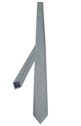 Мужской шелковый галстук BRIONI бирюзового цвета, арт. 061D00/P9489 | Фото 2