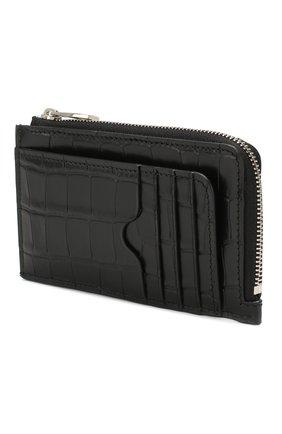 Мужской кожаный футляр для кредитных карт ALEXANDER MCQUEEN черного цвета, арт. 569424/DZT0Y | Фото 2
