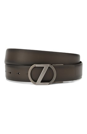 Мужской двусторонний кожаный ремень Z ZEGNA коричневого цвета, арт. BVRI1A/J1104A | Фото 1