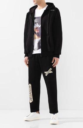 Мужские кожаные кеды SANTONI белого цвета, арт. MBWI21303BARXDSPI50 | Фото 2