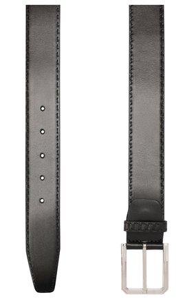 Мужской кожаный ремень KITON черного цвета, арт. USC23PN00101 | Фото 2