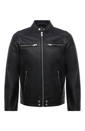 Мужская кожаная куртка DIESEL черного цвета, арт. 00S6Z1/0TAUH | Фото 1