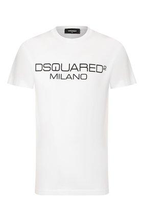 Мужская хлопковая футболка DSQUARED2 белого цвета, арт. S74GD0644/S22844 | Фото 1