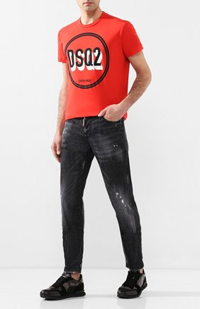 Мужская хлопковая футболка DSQUARED2 красного цвета, арт. S74GD0659/S22427   Фото 2