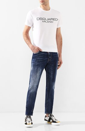 Мужские джинсы DSQUARED2 синего цвета, арт. S74LB0684/S30663 | Фото 2