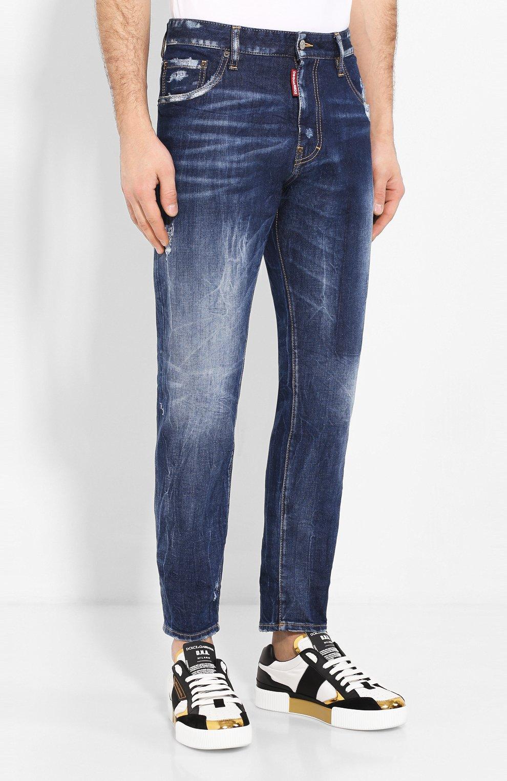 Мужские джинсы DSQUARED2 синего цвета, арт. S74LB0684/S30663 | Фото 3