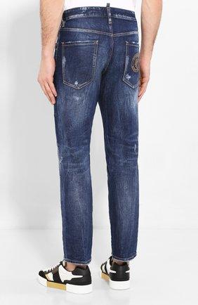 Мужские джинсы DSQUARED2 синего цвета, арт. S74LB0684/S30663 | Фото 4