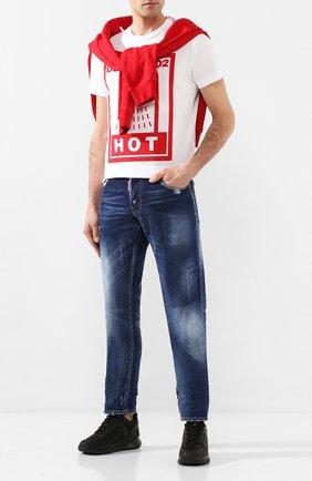 Мужские джинсы DSQUARED2 синего цвета, арт. S74LB0685/S30663 | Фото 2