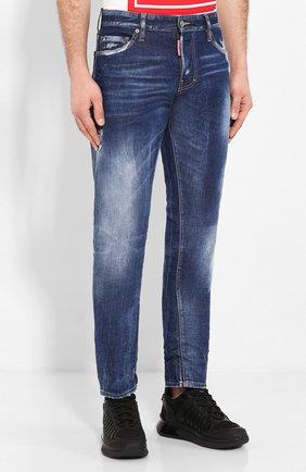 Мужские джинсы DSQUARED2 синего цвета, арт. S74LB0685/S30663 | Фото 3