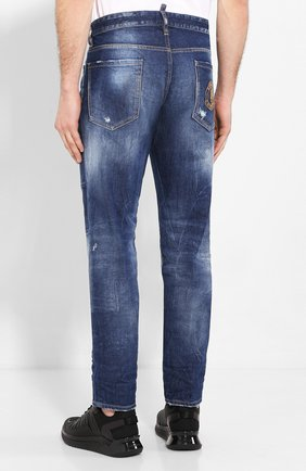 Мужские джинсы DSQUARED2 синего цвета, арт. S74LB0685/S30663 | Фото 4