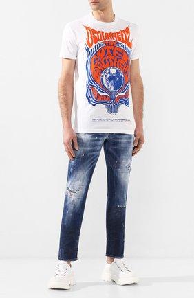 Мужские джинсы DSQUARED2 синего цвета, арт. S74LB0688/S30342 | Фото 2