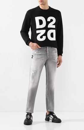 Мужские джинсы DSQUARED2 серого цвета, арт. S74LB0693/S30260 | Фото 2
