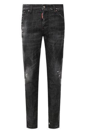 Мужские джинсы DSQUARED2 черного цвета, арт. S74LB0698/S30357 | Фото 1