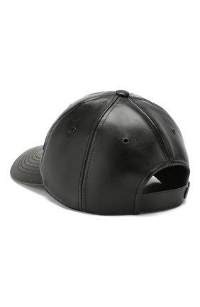 Мужской кожаная бейсболка holiday KENZO черного цвета, арт. F965AC500LP3 | Фото 2