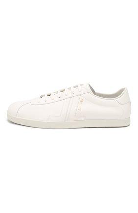 Мужские кожаные кеды LANVIN белого цвета, арт. FM-SKDL0N-MAS0-P20   Фото 3 (Материал внутренний: Натуральная кожа; Подошва: Плоская)