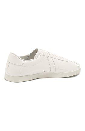 Мужские кожаные кеды LANVIN белого цвета, арт. FM-SKDL0N-MAS0-P20   Фото 4 (Материал внутренний: Натуральная кожа; Подошва: Плоская)