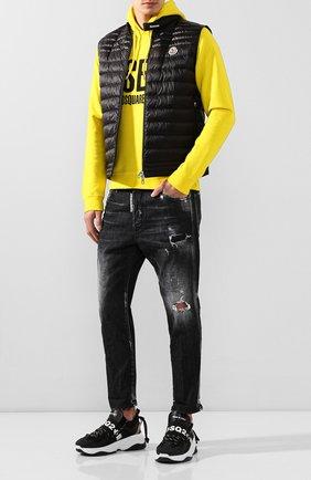 Мужской пуховый жилет gir MONCLER черного цвета, арт. F1-091-1A105-00-C0451 | Фото 2