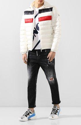 Мужская пуховая куртка kourou MONCLER белого цвета, арт. F1-091-1A117-00-C0453 | Фото 2