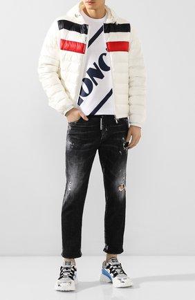 Мужская хлопковая футболка MONCLER белого цвета, арт. F1-091-8C706-10-8390T | Фото 2