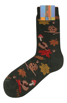 Мужские хлопковые носки GALLO зеленого цвета, арт. AP508628 | Фото 1