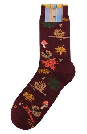 Мужские хлопковые носки GALLO бордового цвета, арт. AP508628 | Фото 1