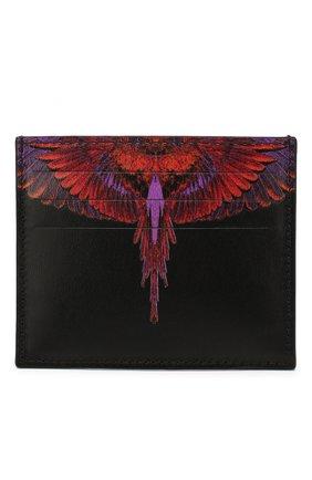 Мужской кожаный футляр для кредитных карт MARCELO BURLON черного цвета, арт. CMND003R20LEA001   Фото 1