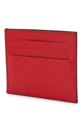 Мужской кожаный футляр для кредитных карт MARCELO BURLON черного цвета, арт. CMND003R20LEA001   Фото 2