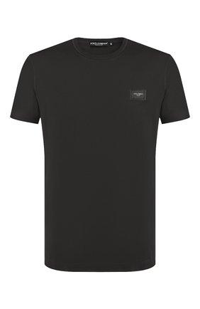 Мужская хлопковая футболка DOLCE & GABBANA темно-серого цвета, арт. G8KJ9T/FU7EQ | Фото 1