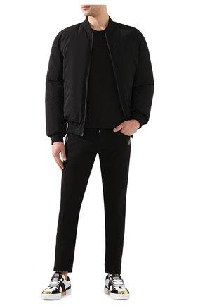 Мужская хлопковая футболка DOLCE & GABBANA темно-серого цвета, арт. G8KJ9T/FU7EQ | Фото 2