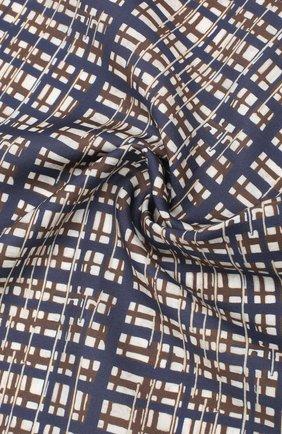 Мужской платок из хлопка и шелка ERMENEGILDO ZEGNA синего цвета, арт. Z7J16/38B | Фото 2