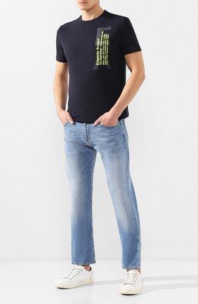 Мужские джинсы EMPORIO ARMANI голубого цвета, арт. 3H1J45/1D9RZ | Фото 2