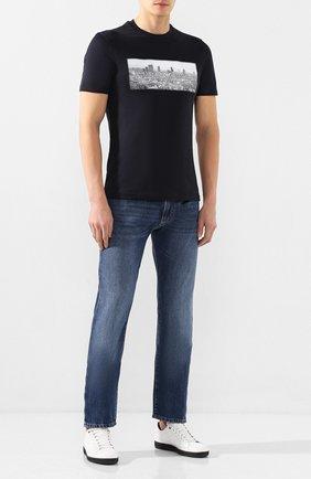 Мужские джинсы EMPORIO ARMANI синего цвета, арт. 3H1J45/1D9RZ | Фото 2