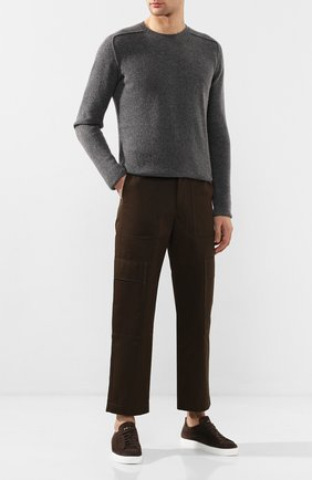 Мужские замшевые кеды H`D`S`N BARACCO коричневого цвета, арт. T0NY.10* | Фото 2